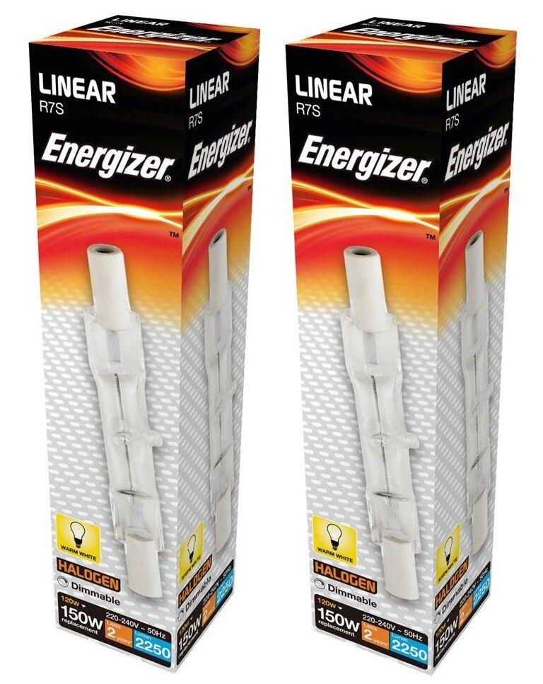 3x Eveready ECO Halogen Linear 120w=150w J78 R7S Floodlight Bulb Warm White
