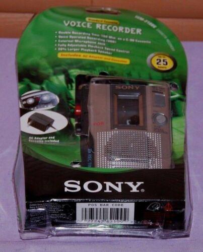 Sony TCM-210DV Handheld Cassette Voice Recorder Bundle -- New Open Box