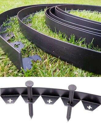 Flexible Garden Edging Lawn Grass Border Edge 10m + 50 STRONG Pegs FREE DELIVERY