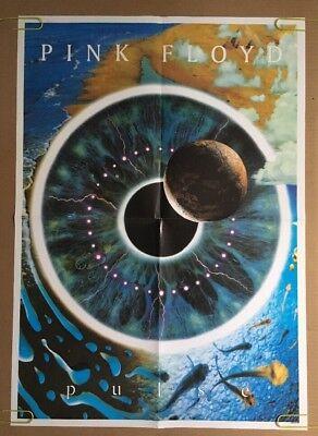 Vintage Poster Pink Floyd Pulse 1995 Pin Up 1990S Music Memorabilia Eye Planet
