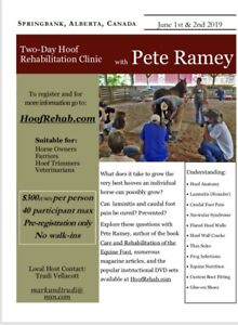 Pete Ramey Horse Hoofcare Clinic June 1st and 2nd