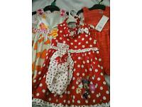 Girls dresses 12-18 months new unworn