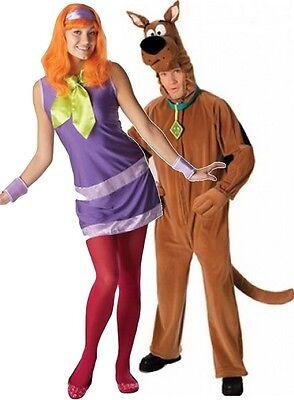 Scooby Doo Couple Halloween Costumes (Couples Ladies AND Mens Scooby Doo 1960s Halloween Fancy Dress Costumes)