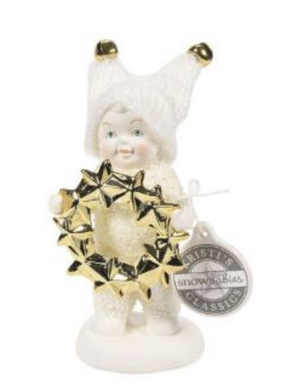 "Dept 56 Christmas Snowbabies ""Warm My soul"" Ornament 3""H. Enesco Bisque NIB"