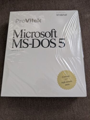 MS DOS 5 NEW SEALED!