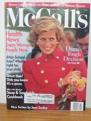 Mccalls Magazine Oct 1990 Princess Dianas Tough Decision Health News Great Hair