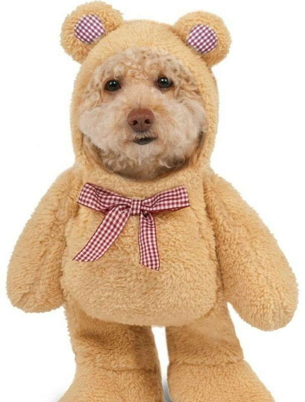 Funny Walking Teddy Bear Pet Dog Cat Costume Plush Outfit