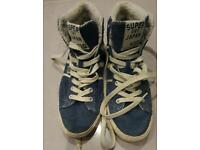 ladies superdry baseball boots size 5