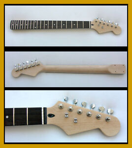 STRAT Replace* GUITAR NECK wfree/Tuners MAPLE Rosewood* blm3