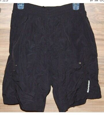 Schwinn Mens Mountain Bike Shorts LARGE Black Pockets Padded Lined Baggy NEW!