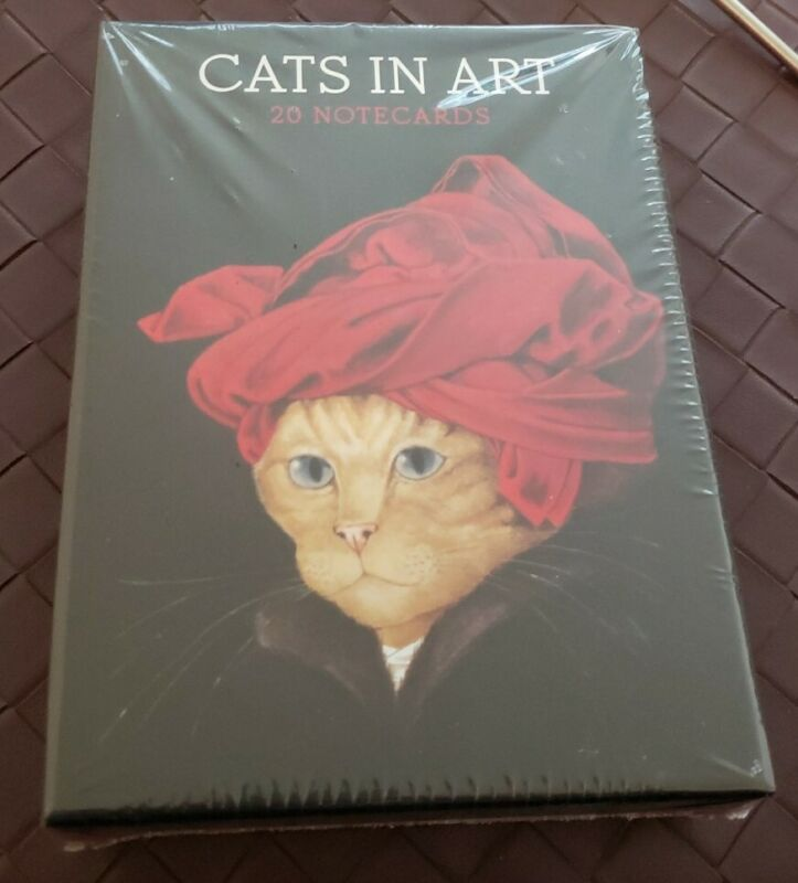 NEW Cats in Art 20 Notecards Greeting Cards Envelopes Thames & Hudson NIB Sealed