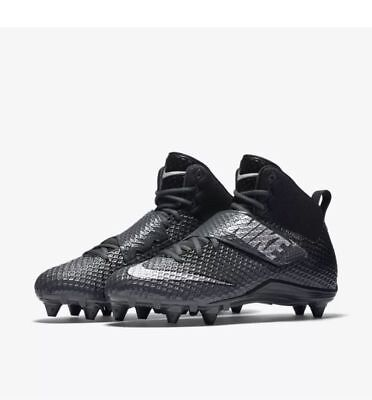 0060d9f1e Nike 833419 010 Force Lunarbeast Pro D Anthracite Mens Football Cleats Size  12
