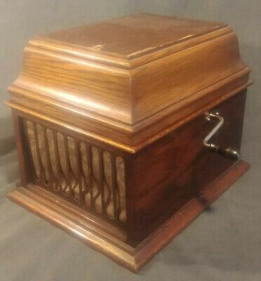 Antique Edison Amberola 30, Cylinder Phonograph, Working, 20 cylinders included