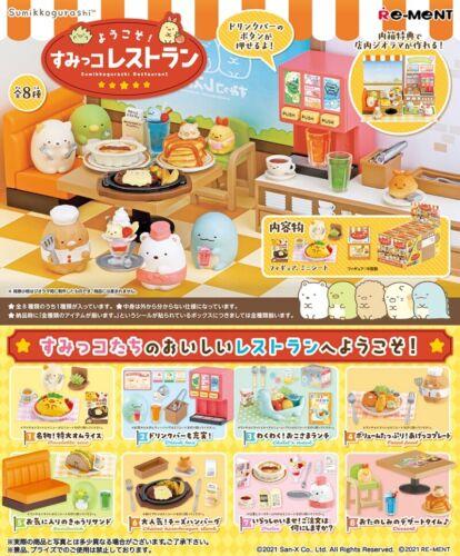Re-Ment Miniature Sumikko Gurashi Restaurant Cafe Full Set 8 pieces Rement