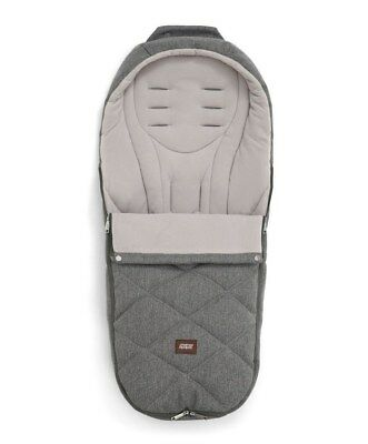Mamas & Papas Cold Weather Plus Footmuff - Grey Twill Brand New!!