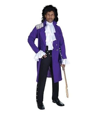 Pop Stars Costumes (Underwraps Pop Star Prince Purple Rain Adult Costume - 2)