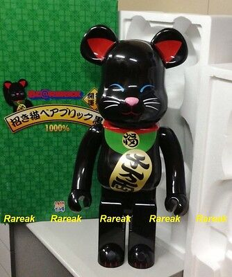 Medicom Skytree 2015 Bearbrick 1000% Manekine Lucky Cat Neko Black Be@rbrick 1pc