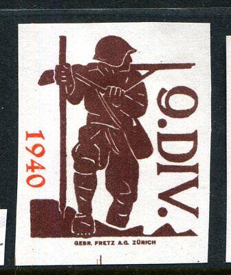 Switzerland Soldier Stamp Kommandostäbe Command Staff #86 IMPERF  25