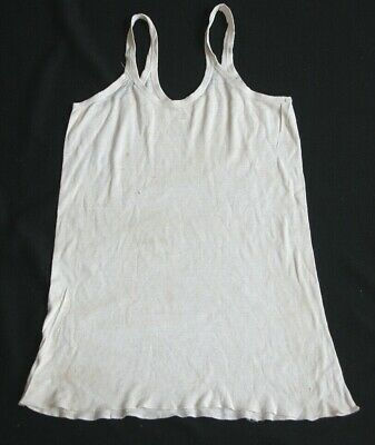 1940s Men's Shirts, Sweaters, Vests Vtg 1940s Carter's Blank T Shirt S Single Stitch w/ Label Tag 16 yr old $175.00 AT vintagedancer.com
