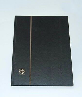 LIGHTHOUSE 32 PAGE HARDCOVER STOCKBOOK, BLACK