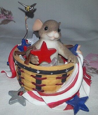 """Charming Tails """"Peace Is In The Stars"""" Fitz/Floyd Boxed Figurine"""