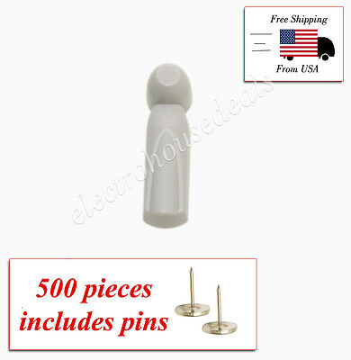 500 Pcs Eas Rf 8.2 Mhz Checkpoint Compatible Security Tags With Pins- Slim Model