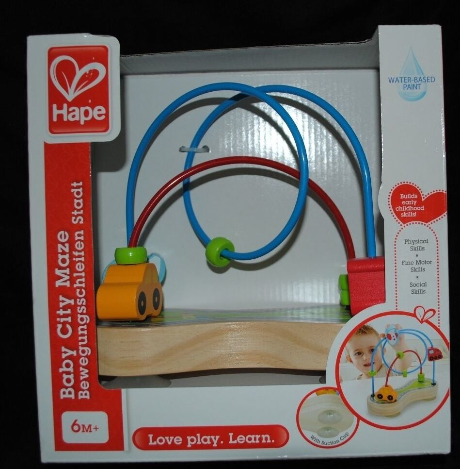 baby wooden city maze learning toys
