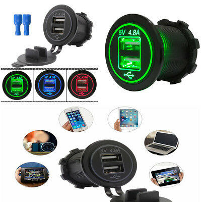 Waterproof USB Charger Socket Power Outlet for Car Boat Marine Motorcycle Truck for sale  Shipping to South Africa