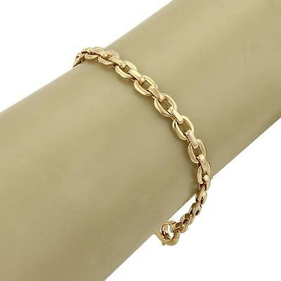"Cartier 18k Yellow Gold Oval Link Chain Link Bracelet - 7"""