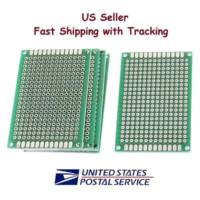 5 Pcs 4x6 Cm Prototype Perf Pcb Double Sided Matrics - Us Seller Fast Shipping