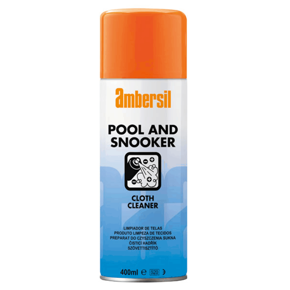 AMBERSIL BILLIARDS POOL and SNOOKER TABLE CLOTH CLEANER 400ML