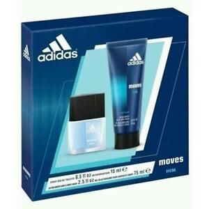 NEW MEN'S 2PC ADIDAS MOVES SET 157521688 PERFUME COLOGNE BEAUTY FRAGRANCE SCENTS