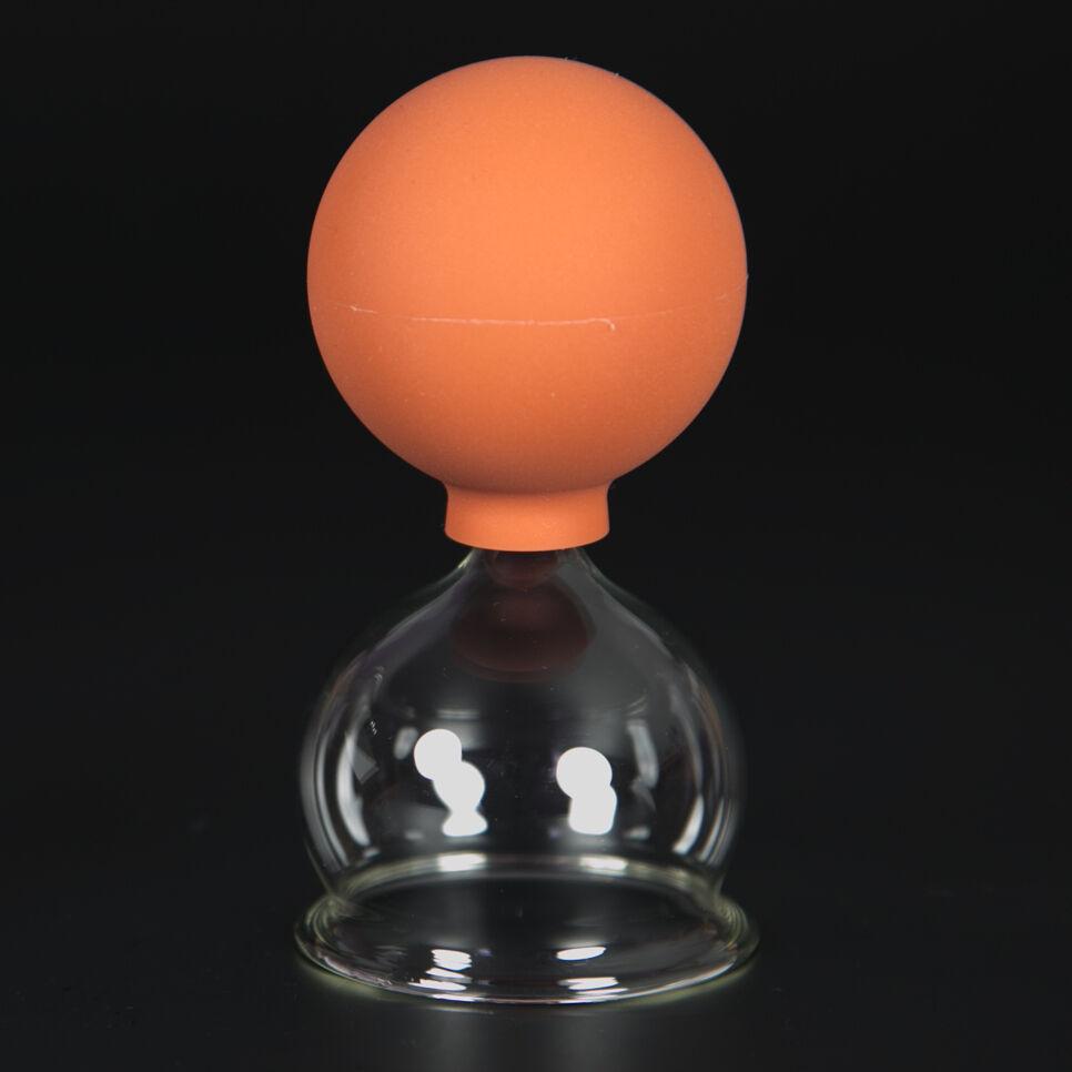 Schröpfglas Schröpfgläser mit Saugball med. Schröpfen Original Lauschaer Glas 50 mm