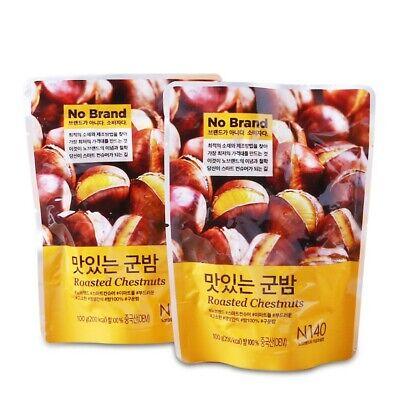 Korean E-Mart No Brand Delicious GoonBam Roasted Chestnuts 100g x 2pack
