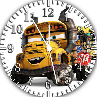 Disney Cars Miss Fritter Die-Cast Frameless Borderless Wall Clock F48