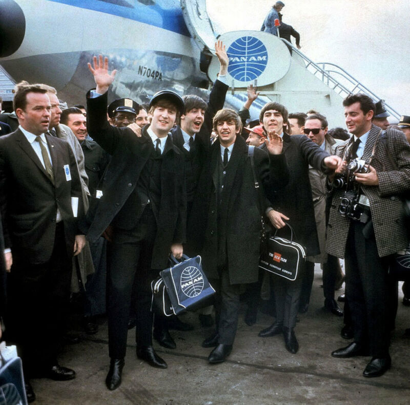 The Beatles Arrive At Jfk Airport  8x10 Photo Print