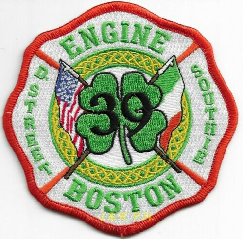 """*NEW* Boston  Engine - 39  """"Southie - D. Street"""", MA  (4"""" x 4"""" size) fire patch"""