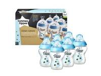 Tommee Tippee Closer to Nature 260 Ml 6x Decorated Blue Bees Bottles