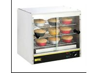 Buffalo heated pie cabinet NEW condition only been used twice, still have receipt for guarantee