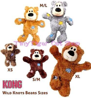 Kong Wild Knots Bear Dog Puppy Toy small medium large extra large plush