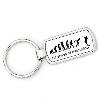 18th Birthday - BOWLING - Mans Evolution Key Ring® APE BOWLS age keyring - 18th Birthday Rings