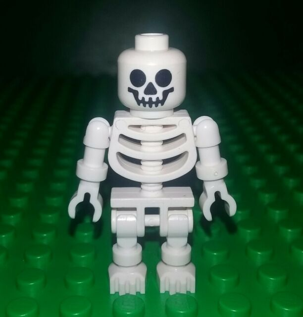 Lego White Skeleton Minifig Figure Man Scary Settings Fig X 1   eBay