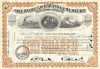 Usa, The Delaware Lackawanna & Western Railroad Co., Cert. De 100 Acciones, 1956 -  - ebay.es