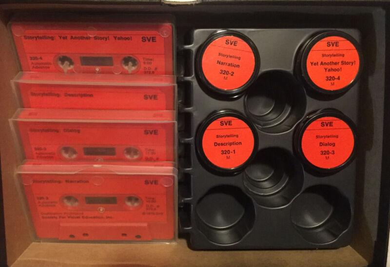 """1976 SVE Singer Education """"Storytelling"""" Child Education Filmstrips & Cassettes"""