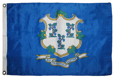 2x3 Connecticut State 2'x3' Premium Quality Heavy Duty Polyester Flag