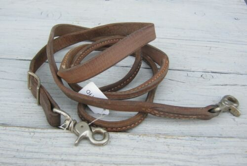 Rolled Harness Leather One Piece Reins Roping 23470