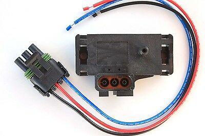 GM GENUINE 3 BAR Delphi MAP SENSOR with CONNECTOR Pigtail