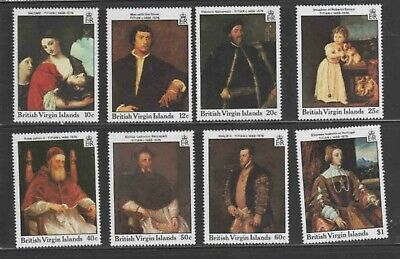 VIRGIN ISLANDS #595-602 1988 PAINTING BY TITIAN MINT VF NH O.G