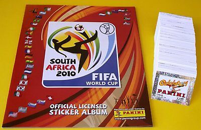 Panini World Cup 2010 - complete set of 640 stickers + empty album NEW