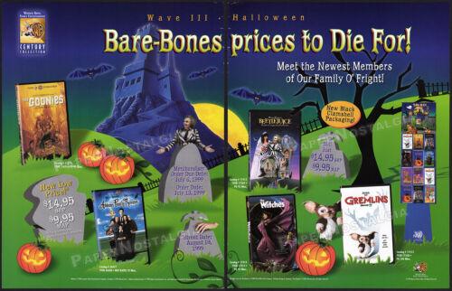 WARNER BROS. Halloween Promo__Orig. 1999 Trade Print AD __BEETLEJUICE__GREMLINS